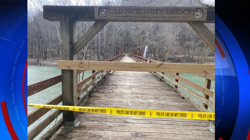 Two years later after the first fire, someone set the bridge at Bee Rock Campground on fire...