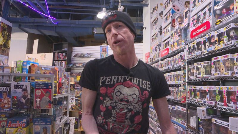 David Mebane breaks the world record for  his collection of Funko Pops