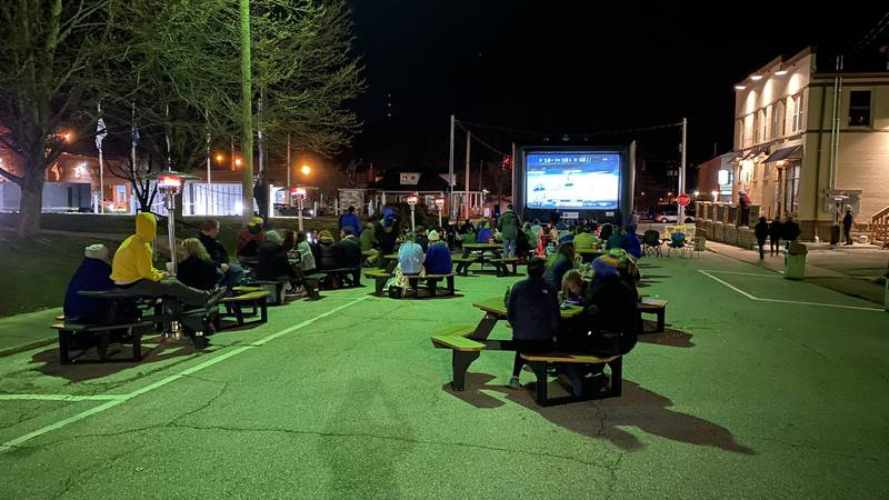 Morehead fans safely gather to cheer on the Eagles in the NCAA Tournament.