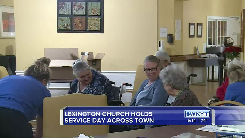 Volunteers with the Bethel Harvest Church in Lexington spent Sunday making a difference in the...