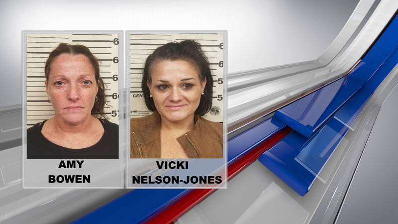 Vicki Nelson-Jones, of Prichard, and Amy Bowen, of Paintsville, were arrested by the Drug...