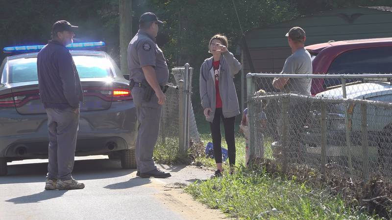 Kentucky State Police Troopers visited homes and businesses in Blackberry Thursday.