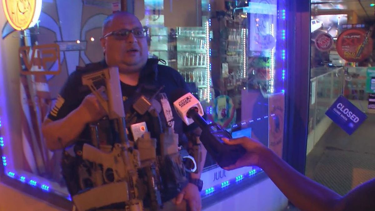 For the past 120 nights a small business owner has been in full tactical gear, armed with a rifle and said he is defending himself and his property.