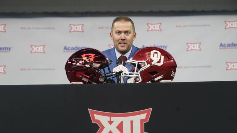 Oklahoma head football coach Lincoln Riley during NCAA college football Big 12 media days...