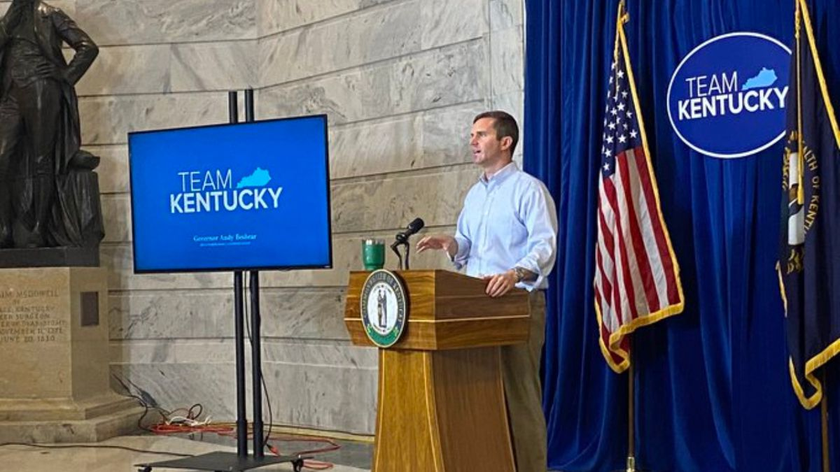 Gov. Andy Beshear gives an update on COVID-19 in Kentucky