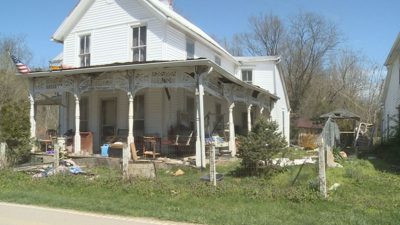 Johnny's house was damaged by the Kentucky River after the March 2021 flood.