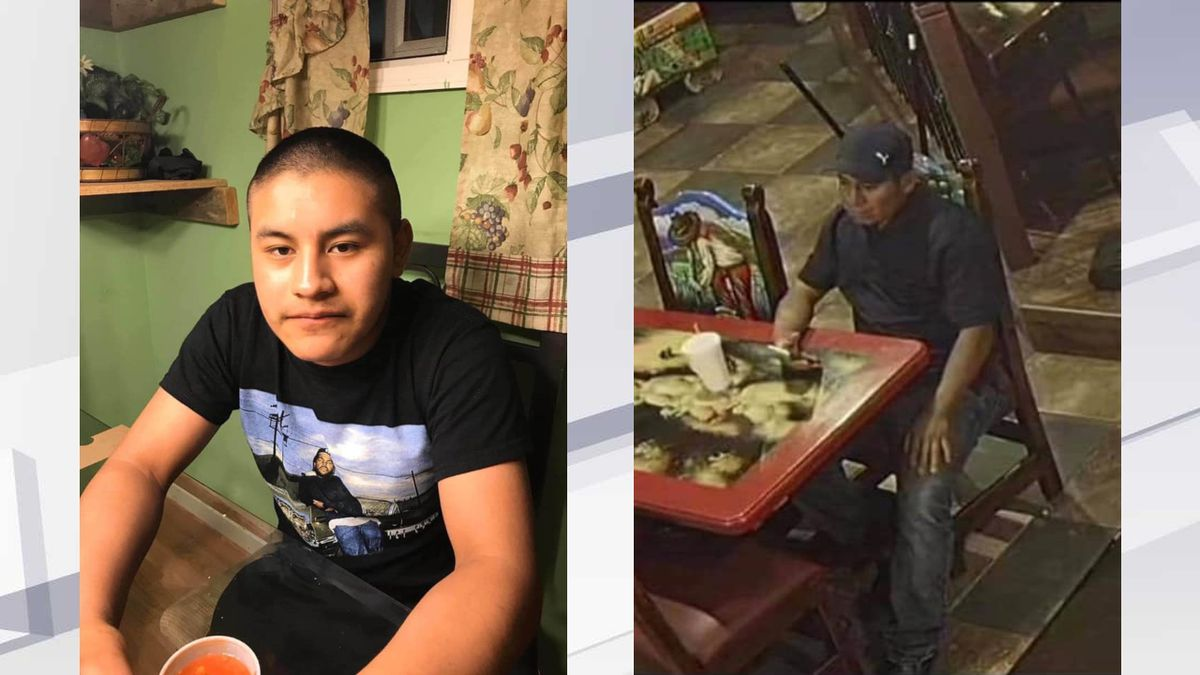 Police say Samuel Chavez (l,) may have left with the unidentified man on the right.