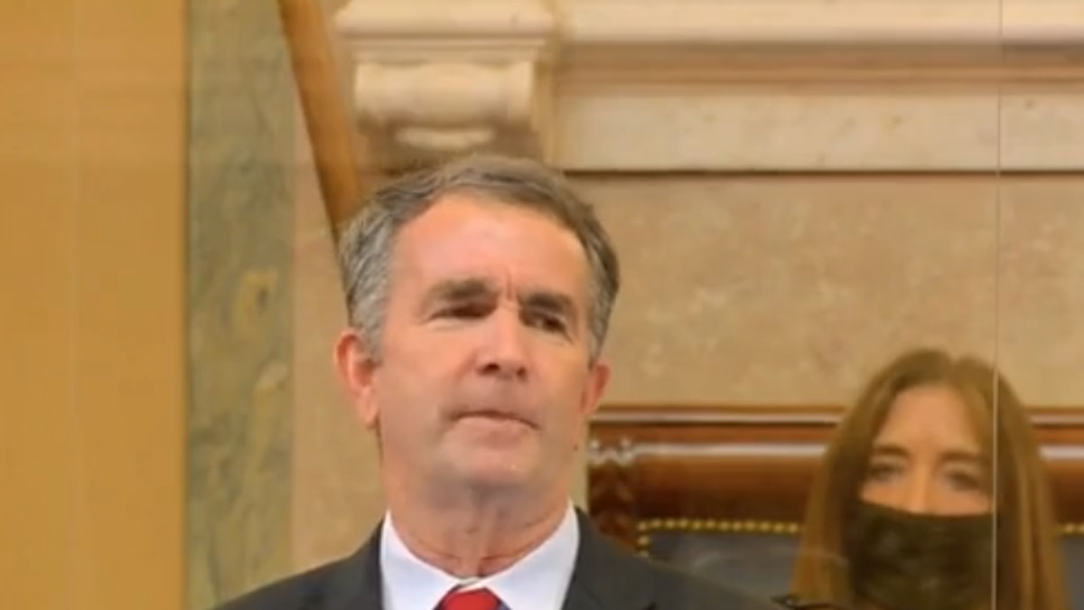 Virginia Governor Ralph Northam delivers his State of the Commonwealth address for 2021