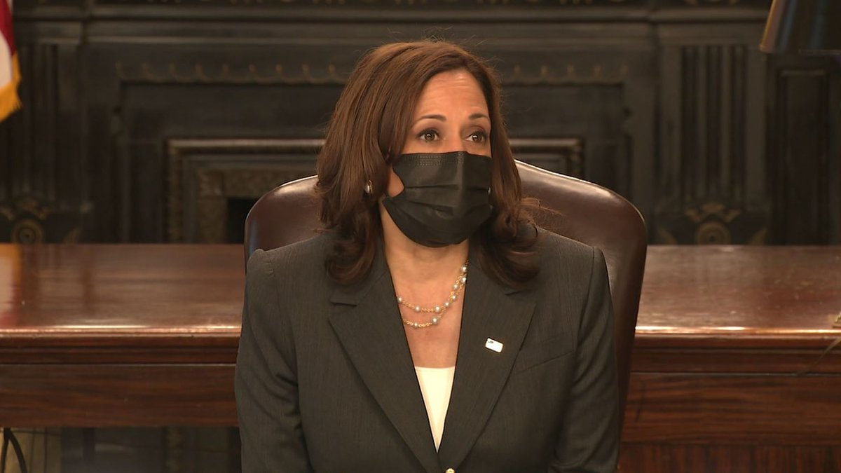 FILE - Vice President Kamala Harris holds a meeting on Native American voting rights on...