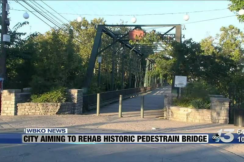 City Aiming to Rehab Historic Pedestrian Bridge
