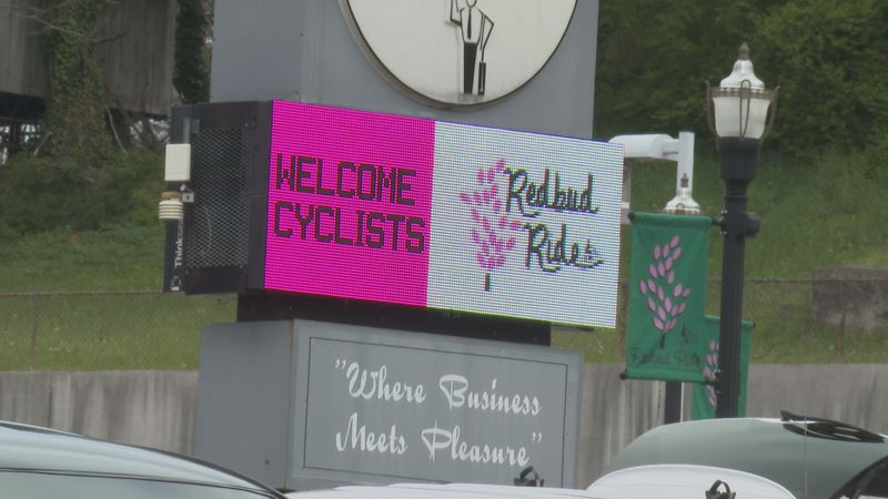 Officials say the event brought in over 1,000 riders.