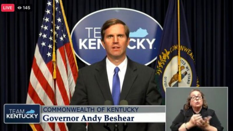 Gov. Andy Beshear gives an update on COVID-19