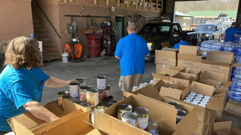 With this food drive, leaders say roughly 43,000 pounds of food will be given out and that...
