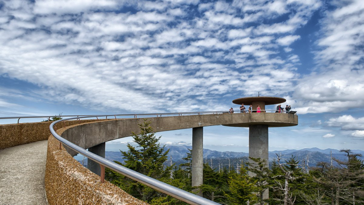 Clingmans Dome Observation Tower. Great Smoky Mountains National Park