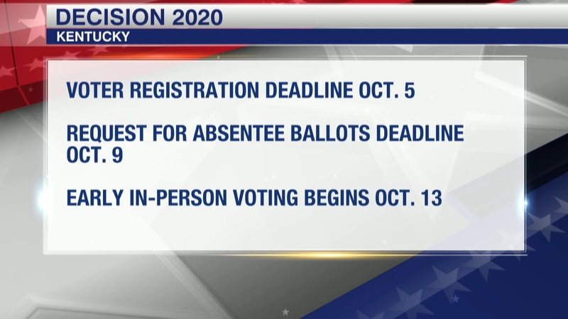 The deadline to register to vote is Monday, Oct. 5. Voters must request an absentee mail-in...