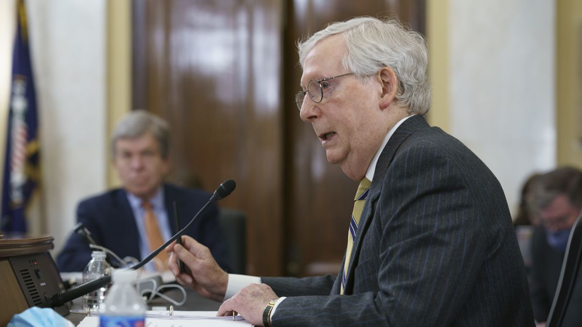 FILE - Senate Minority Leader Mitch McConnell, R-Ky.,