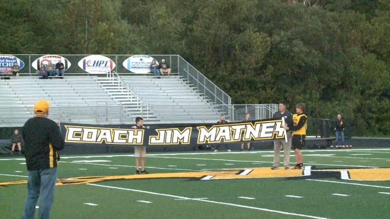 Johnson Central High School football field renamed to Coach Jim Matney Field