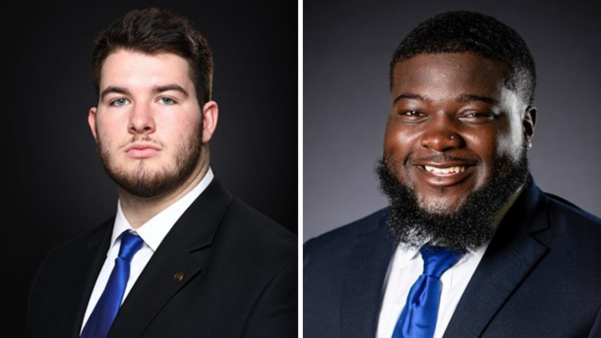 Eli Cox (left) and Octavious Oxendine (right) received Co-Player of the Week honors for...