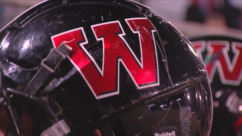 Whitley County Colonels football helmet
