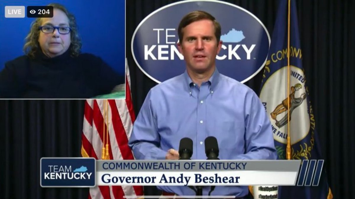 Gov. Andy Beshear gives an update on COVID-19.
