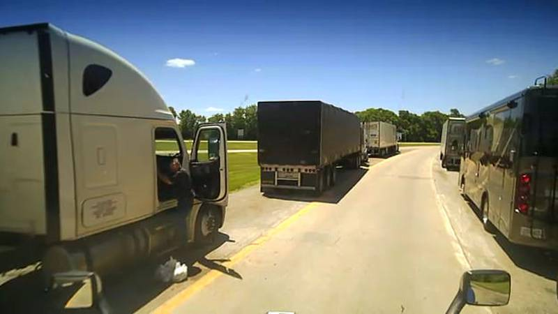 Anyone who can identify this person or truck should call Versailles Police at (859) 873-3126.