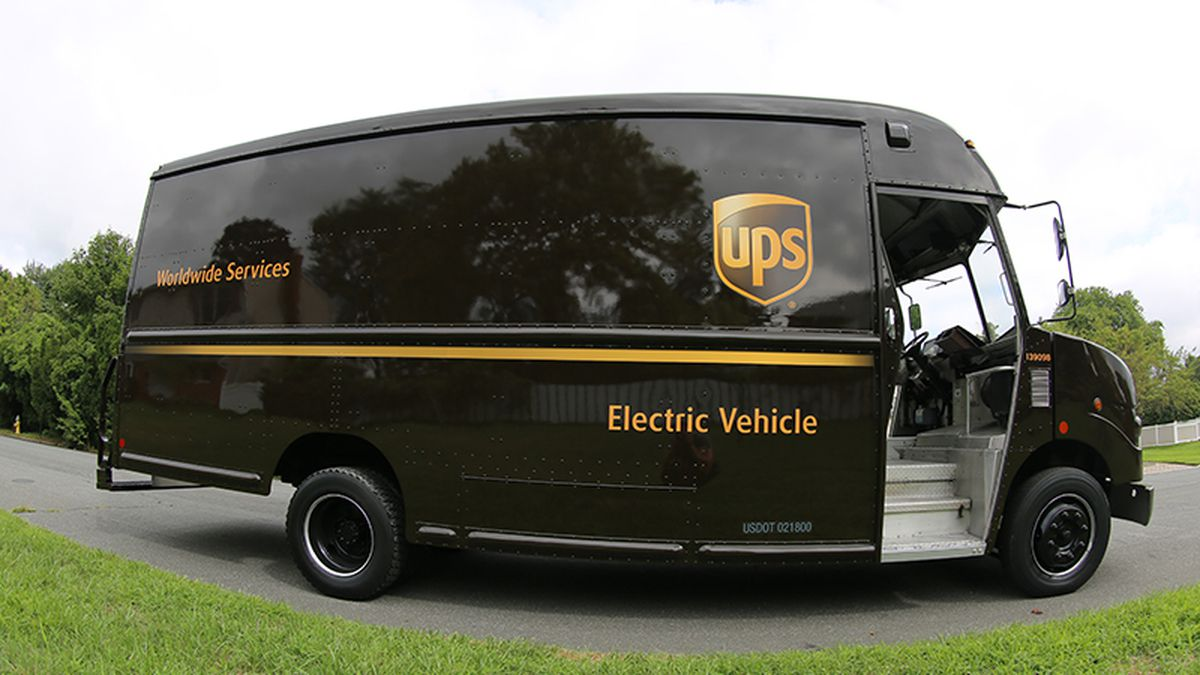 FILE - UPS Electric Package Car
