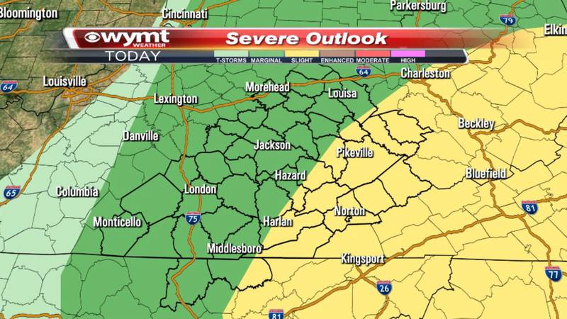 Our entire region is under a risk for severe storms from the Storm Prediction Center for...