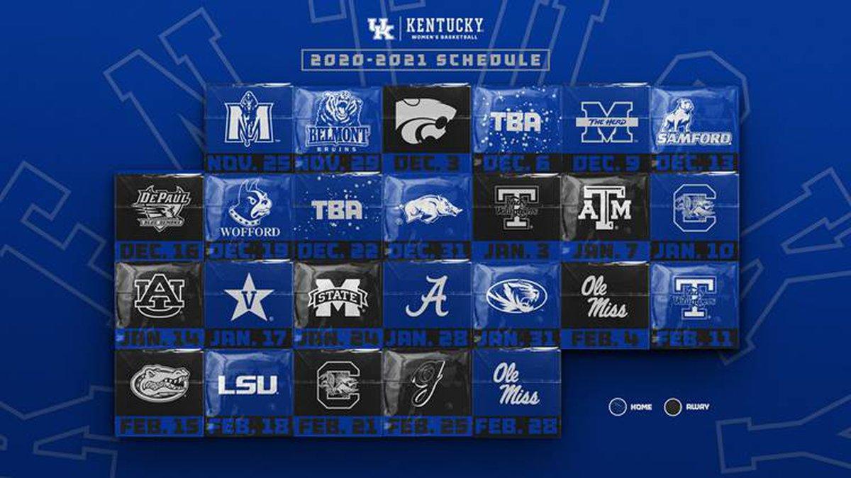 Kentucky WBB 2020-2021 schedule