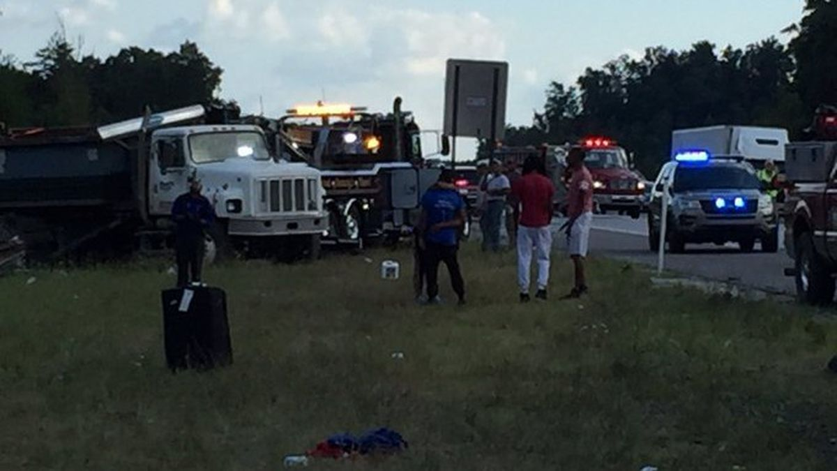 An accident involving a Greyhound bus remains under investigation while the injured are still recovering. // Phil Pendleton