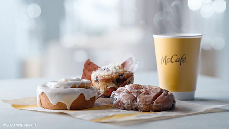 McDonald's announced it will expand its McCafe Bakery line with three new items on October 28.