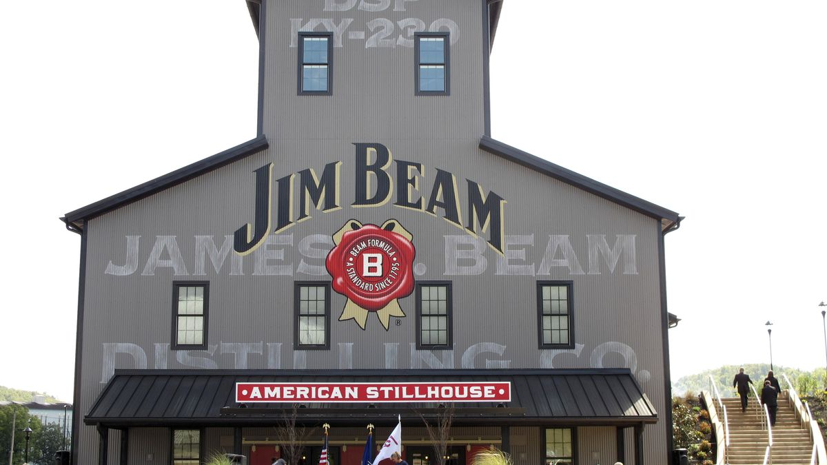 FILE - This Oct. 3, 2012 file photo shows the Jim Beam visitors center at its central...