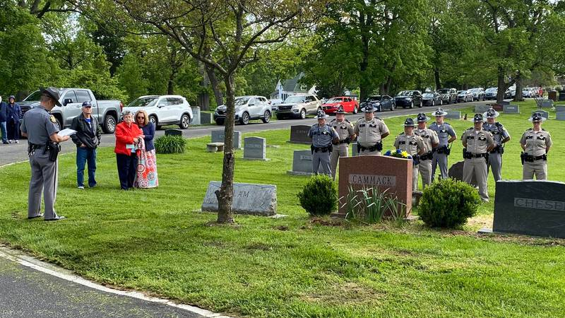 Troopers honored fallen officers as part of the yearly tradition.