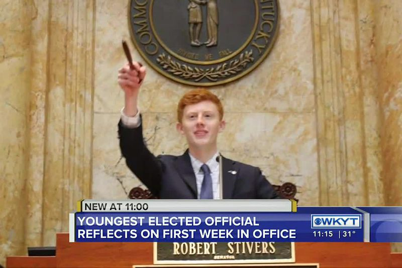 The country's youngest elected official took office this week in Kentucky.