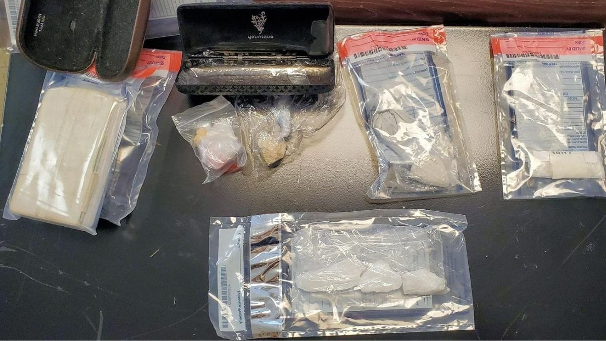 Investigators found a substantial amount of methamphetamine, heroin, needles scales, baggies and spoons.
