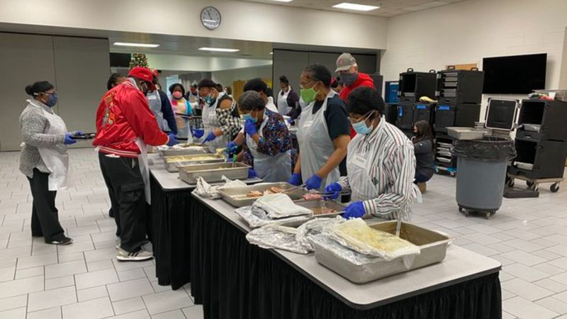 The Salvation Army had to change up their yearly Thanksgiving dinner because of the pandemic....