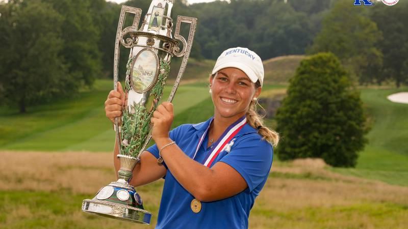 Jensen Castle wins the U.S. Women's Amateur Championship.