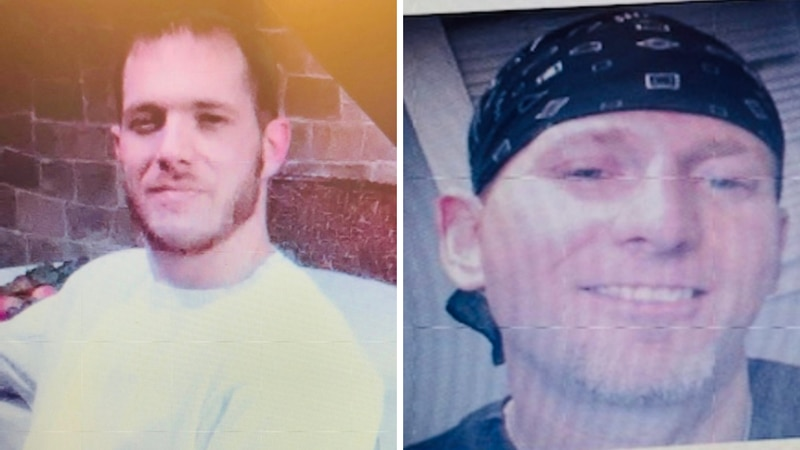 Kentucky State Police are searching for these two men: Matthew Saylor (L) and Tony Taylor (R).