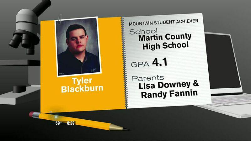 Mountain Student Achiever Tyler Blackburn