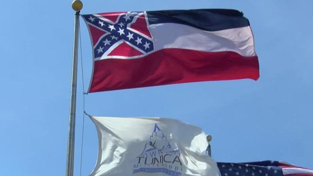 The Mississippi state flag still prominently features the Confederate emblem.