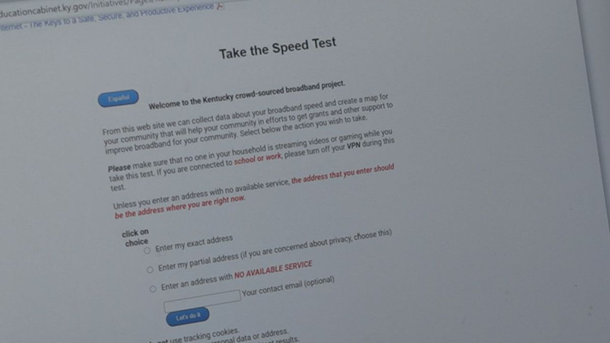 State leaders are urging Kentuckians to take a quick speed test to see how strong their...