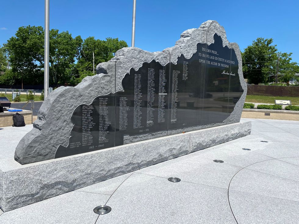 World War I soldier Private Winstell Hearell, whose name was recently added to the memorial...