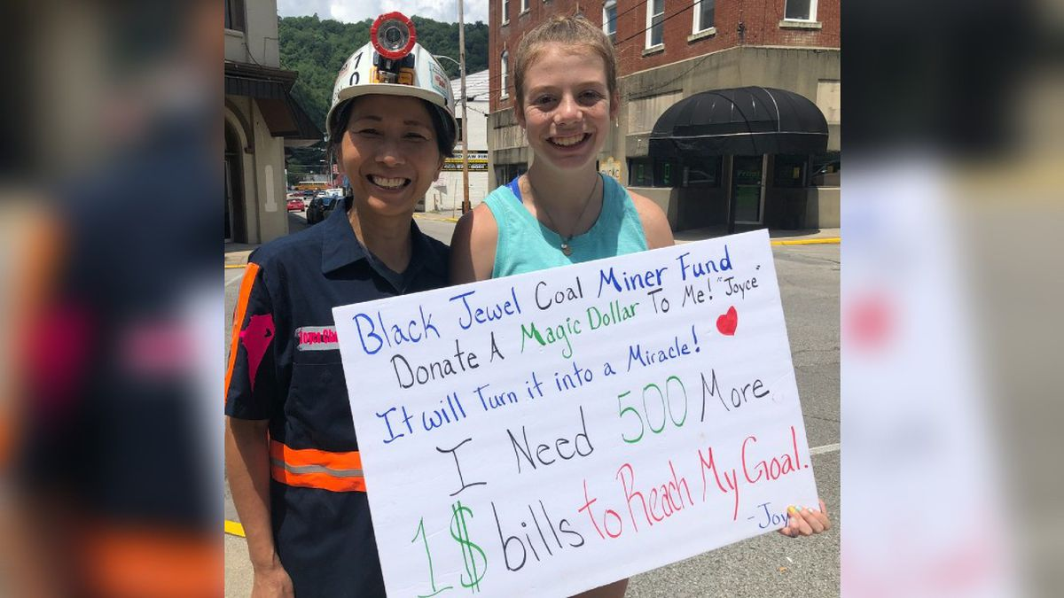 Joyce Cheng was back out Friday to get the last $500 she needed to reach her goal of $5K for Blackjewel miners.