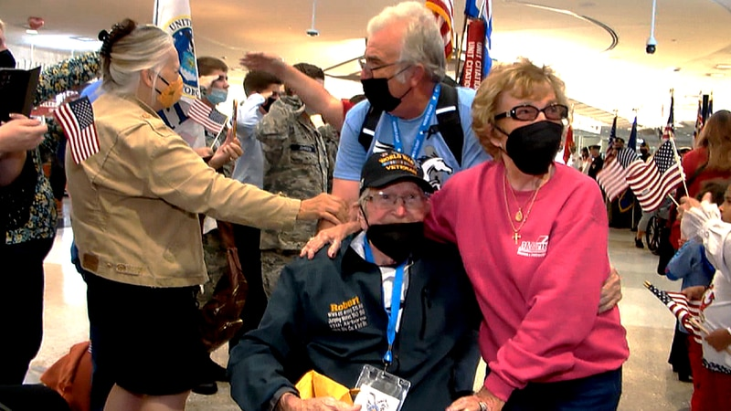 Rebecca McBurney could not wait to see her husband Robert return home from the Honor Flight...