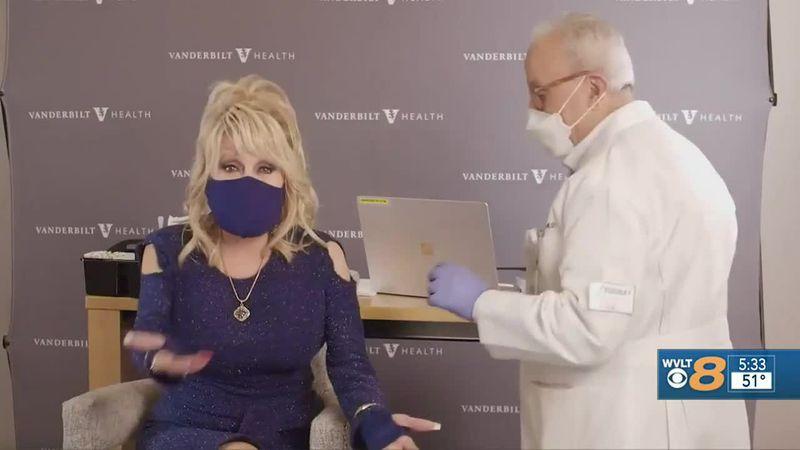 Dolly Parton receives COVID vaccine