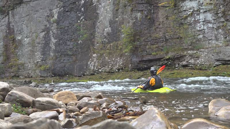 Whitewater kayakers filled the Russell Fork  River Saturday and Sunday as the season kicked off.