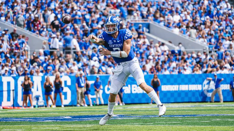 Will Levis during UK's 28-23 win over Chattanooga