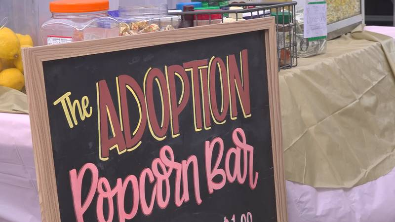 The Adoption Popcorn Bar is open at the Autumn Festival in Paintsville through Saturday.