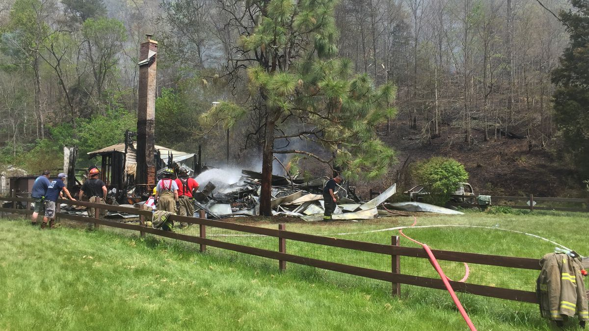 Officials tell WSAZ everyone made it out except for two dogs.