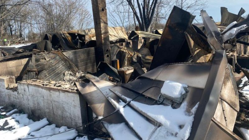 An eastern Kentucky family is displaced, with nothing, after a fire burned down their home.