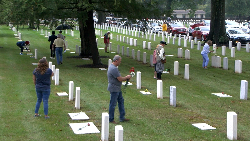 Over Labor Day weekend, family and community members gathered to honor WWII soldiers buried...